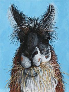 Llama Portrait Llama Face Painting Cute by PennyBirchWilliams