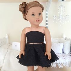 18 inch doll lace skirt and bustier by SewCuteForever on Etsy