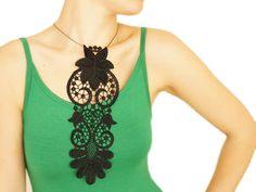 Arinia // FREE SHIPPING //  Handmade Black Crochet Cotton by EPUU, $38.00 #promooasis