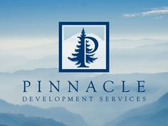 Custom logo design for Pinnacle Development services, located in Washington State.