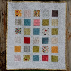 Windowpanes Baby quilt