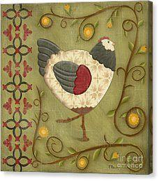 Печать холста - Очаровательные цыплята 2 от Пола Брент