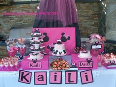 Kaili and Daisy's Minnie Mouse Party | CatchMyParty.com