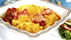 Mac and Cheese - Oppskrift - Godt. Macaroni And Cheese, Bacon, Spaghetti, Pasta, Ethnic Recipes, Den, Food, Mac Cheese, Meal