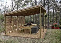 "Airgun forum: Built a back yard ""shooting range"" . Shooting House, Shooting Table, Outdoor Shooting Range, Outdoor Range, Shooting Targets, Shooting Guns, Archery Targets, Shooting Sports, Shooting Bench Plans"