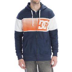 NEW-DC-SHOES-Mens-LYMAN-Zipper-Hoodie-Sweatshirt-Navy-Orange