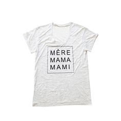 Mama Mami Pregnancy Tee - This stylish tee is perfect for those first few months of pregnancy to throw on with skinnies and a statement necklace. #PNshop