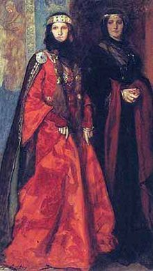 Goneril and Regan by Edwin Austin Abbey