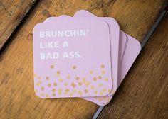 Brunchin' Like a Bad Ass  Set of 10 Paper by KellyElliottCreative