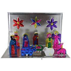 Ornaments Collection - Pop-Up Tin Nativity Set - MTA03