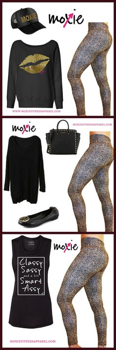 Lovely LEOPARD...three ways! This fierce pair of leggings is as adorable as it is versatile! Pair with a sassy workout tank for the gym, a long sweater and ballet flats for lunch with friends, or a black and gold sweatshirt for shuttling kids to sports practice and a run to the grocery store. How did we ever live without them?? Join our conversation here on FB here https://www.facebook.com/moxiefitnessapparel/posts/988782837827229. Or get these lovely leopard leggings here http://www.moxiefi...