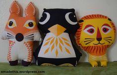 DIY tea towel animals