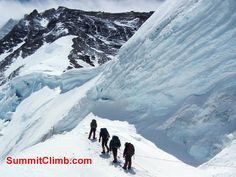 Members climbing to North Col - Photo Scott Patch.