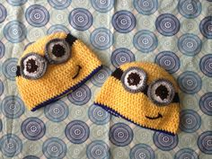 Crochet Minion Hat Infant Toddler and Child size by hookedbyjamie