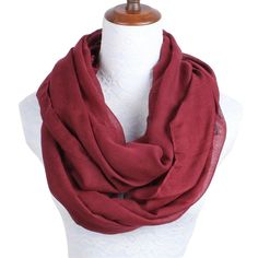 6907497410c1e 2018 New Fashion Women Infinity Scarf Design With Solid Voile Polyester  Winter Warm Lady Ring Loop