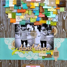 scraplifted- awesome way to use up those little scraps from a sb page kit!