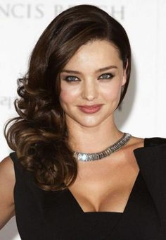 Swept Over To One Side And Softly Curled Hairstyle Fashion Uk Miranda Kerr. Nina Dobrev has had this hairstyle on a few occasions Side Ponytail Wedding, Wedding Ponytail Hairstyles, Side Swept Hairstyles, Down Hairstyles, Pretty Hairstyles, Hairstyle Photos, Updo Hairstyle, Prom Hairstyles, Miranda Kerr