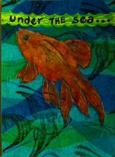 'Under The Sea' ATC for Paper_Trader's Yahoo group's 'Winner-take-all' challenge-November 2013.