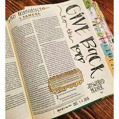 bibel journaling ideas scripture study doodles god Ideas and Images Bible Prayers, Bible Scriptures, Bible Journaling For Beginners, Art Journaling, Samuel Bible, 2 Samuel, New Bible, Scripture Study, Bible Truth