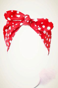 We can do it  Red Pinup headband Polka dots head by GoiaBoutique