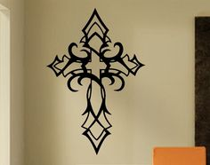 Vinyl Wall Lettering Religious Wall Art Tribal Cross Quotes Decals