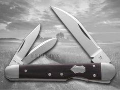 CASE XX Ebony Wood Lockback Whittler 1/200 Stainless Pocket Knife Rare/Nice