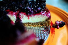 Black berry cheese cake! Uses nella wafers and pecans in crust, yummy!