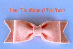 how to felt bow