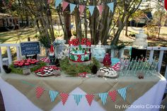 The #gnomes and #mushrooms in our Garden Whismy collection coordinate perfectly with this woodland party theme. #burtonandburton
