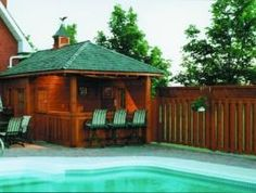 Surfside Pool House with cedar Summerwood ID number 11303.
