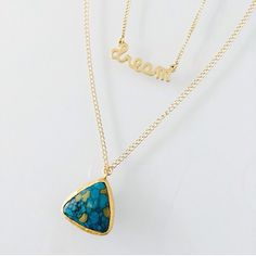 Dream Necklace & Lost Native Mosaic Turquoise Triangle Necklace by Long Lost Jewelry
