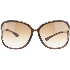 Pre-owned Tom Ford Raquel LF1681625 Brown Metal & Plastic Square... ($90) ❤ liked on Polyvore featuring accessories, eyewear, sunglasses, square lens sunglasses, plastic sunglasses, oversized square sunglasses, brown sunglasses e brown glasses