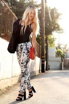 Black Floral (by Shea Marie) http://lookbook.nu/look/3480929-Black-White-Floral