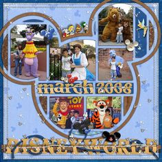 Disney Scrapbooking Page!   love the mickey mouse ear idea