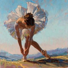 View original oil paintings by Daniel Gerhartz, a living master of American painting. Ballet Art, Ballet Dancers, Ballerina Kunst, Ballerina Painting, Ballerina Project, Dance Paintings, Oil Paintings, Painting Art, Dance Photography