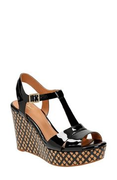 NUDe!! Clarks® 'Amelia Roma' Wedge Sandal (Women) available at #Nordstrom