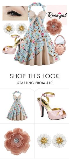 """""""Spring Fling"""" by glam-hobo ❤ liked on Polyvore featuring Anatomy Of, Pinup Couture, Miss Selfridge and Too Faced Cosmetics"""