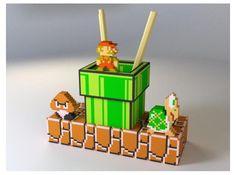 Mariorama printed Mariorama can function as a pen holder - Diy and crafts interests Mario Bros, Mario Brothers, Super Mario, Pen Holder Diy, Pencil Holder, Diorama, Nintendo, Diy And Crafts, Paper Crafts