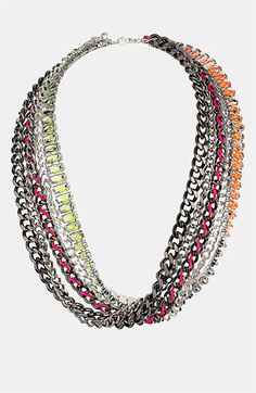 Inspiration for DIY necklace or bracelet: Topshop Multi Chain Necklace | Nordstrom