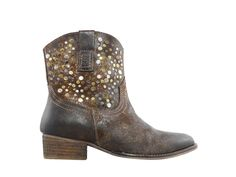 Stand out amongst the crowd with these women's Diba brown True Flying Solo western booties. Crafted using a premium leather upper with eye-catching metallic embellishments, these pointed toe booties have a plush insole and a reliable outsole with a low block heel. Festival Fashion, Festival Style, Casual Boots, Block Heels, Cowboy Boots, Booty, Crowd, Embellishments, Whimsical