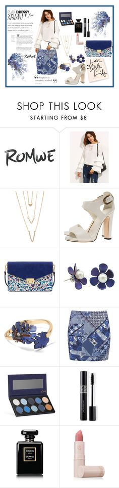 """""""Romwe"""" by husejnbasic-belma ❤ liked on Polyvore featuring SHAN, Gucci, Mellow World, Banana Republic, Boohoo, Luxie, Christian Dior, Chanel and Lipstick Queen"""