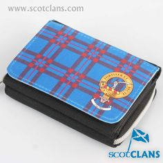 Elliot Clan Crest and Tartan Purse