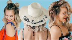 Here are some summer hairstyles for short and medium length hair! There are lots of cool braids in here that are also quick and easy! Keep your hair game str. Heatless Hairstyles, All Hairstyles, Summer Hairstyles, Hairstyle Ideas, Braided Hairstyles, Kayley Melissa, Shirt Hair, Cool Braids, Hair Game