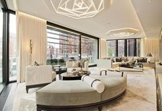 london living room with a view Living Room Modern, My Living Room, Living Room Interior, Living Room Designs, Living Spaces, Best Interior, Luxury Interior, Interior Architecture, Contemporary Interior Design