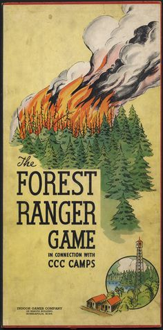 The forest ranger game - Game board, front
