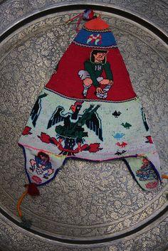Vintage Bolivian hat, hand knit, $350