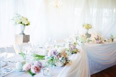 Dominique & Madison's June wedding in Northern Ontario is absolutely swoon-worthy, and will have you in a pinning frenzy for sure! Shades of pastel pink & Pastel Colour Palette, Pastel Colors, Vancouver Wedding Photographer, Wedding Decorations, Table Decorations, Wedding Receptions, Pastel Pink, Wedding Flowers, Bridal Shower
