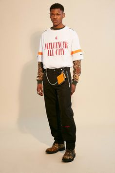 The complete Heron Preston Fall 2018 Menswear fashion show now on Vogue Runway.