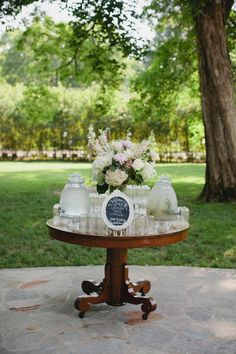 Southern wedding - drink station
