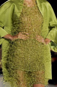 Chado Ralph Rucci at New York Fashion Week Spring 2013. Lovely green.